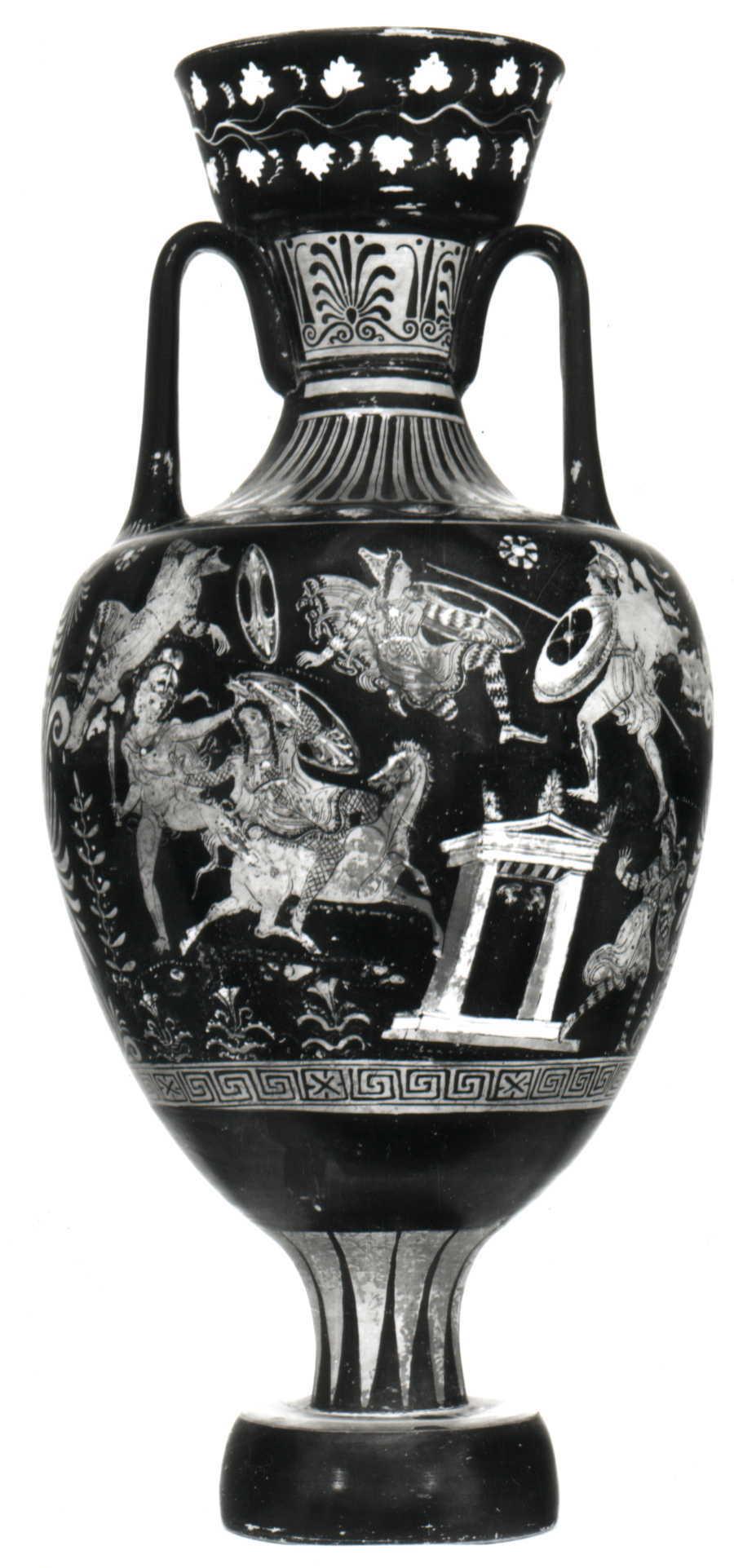 Anfora panatenaica di ts for Vaso greco a due anse