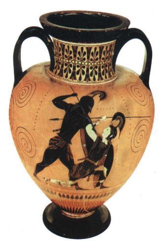 Achille e pentesilea for Vaso greco a due anse